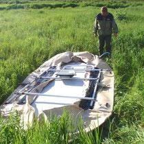 Boot No2 wird von Pesche aufgebaut