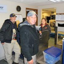 Lachs-Aufgabe für Transport nach Anchorage
