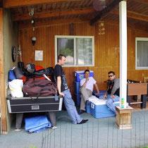 Möglichkeit zur Deponierung des Gepäcks