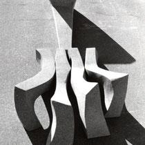 「鍬」御影石 1999