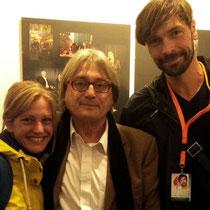 Nadine Heinze und Marc Dietschreit mit Festivalleiter Heinz Badewitz