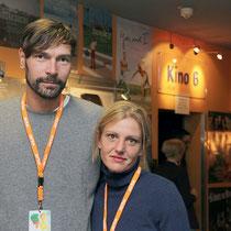 Nadine Heinze und Marc Dietschreit beim zweiten Screening (Foto: Hendrik Ertel)