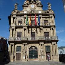 Das Rathaus von Pamplona