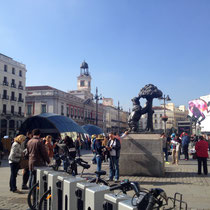 La Plaza del Sol, hier feiern die Madrilenen die Silvesternacht
