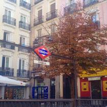 Metro-Station Chueca im Zentrum von Madrid