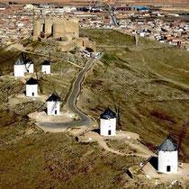 Die Mühlen von Consuegra (La Mancha)