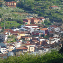 kleines Dorf im Valle del Jerte