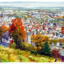 Eldrid Kallenbach: Blick auf Bad Nauheim vom Johannisberg