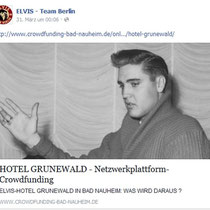 Initiative Elvis in Bad Nauheim vom ELVIS TEAM BERLIN gepostet March 12th 2015