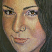 ANITA pastello su tavola cm 50x70  anno 2012    COLLEZIONE PRIVATA