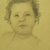 ELENA  grafite su carta  cm 35x50  anno 2011  - COLLEZIONE PRIVATA -