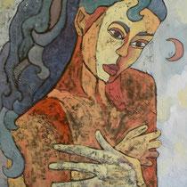 PUDORE  olio su tela  cm 50x70  anno 2006