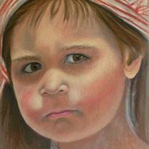 CLAUDIA pastello su tavola cm 42x70  anno 2011    COLLEZIONE PRIVATA