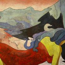 SUSSURRI  olio su tela  cm 100x70  anno 2007