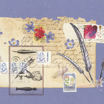 poésie bleue (35 x 22 cm)