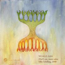 WELTESCHE, 36x36cm, Aquarell, 2010