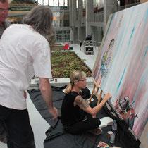 Caia Koopman  (USA) et Reg Mombasa (Australie) en plein travail  - Lyon - Septembre 2011 © Anik COUBLE
