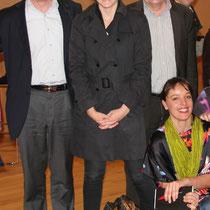 Jean Jouzel, Cynthia Fleury, Alain Chabrolle, Laure Noualhat - Lyon - 0ctobre 2011  © Anik COUBLE