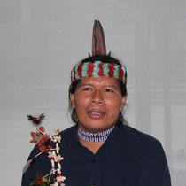 José Gualinga, représentant  la communauté quechua Sarayaku en Equateur - Lyon - 0ctobre 2011  © Anik COUBLE