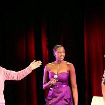 Maurad et Mam, les 2 présentateurs-animateurs de la soirée et Waly du Jamel Comedy Club  - Photo © Anik COUBLE