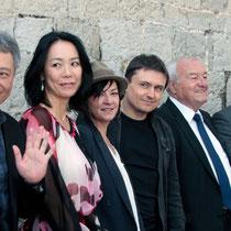 Ang Lee, Naomi Kawase, Lynne Ramsay, Cristian Mungiu, Bernard Brochand, Maire de Cannes et Steven Spielberg, Président du Jury  - Festival de Cannes 2013 © Anik COUBLE