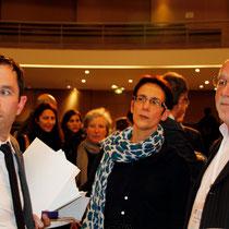 Benoît Hamon, Florence Jany-Catrice et Philippe Fremeaux- Journées de l'Economie (Jéco) - Lyon - Novembre  2013 - Photo © Anik COUBLE