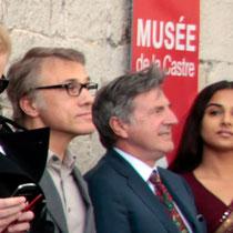 Christopher Waltz, Daniel Auteuil et Vidya Balan - Festival de Cannes 2013 © Anik COUBLE