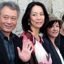Ang Lee, Naomi Kawase, Lynne Ramsay et Cristian Mungiu, membres du Jury - Festival de Cannes 2013 © Anik COUBLE