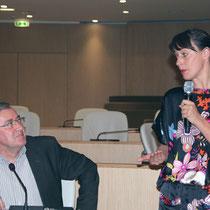 Alain Chabrolle, vice président à la santé et à l'environnement, à la Région Rhône-Alpes et Laure Noualhat - Lyon - 0ctobre 2011  © Anik COUBLE