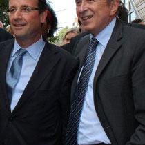 François HOLLANDE et Gérard COLLOMB - Lyon 2011 © Anik COUBLE
