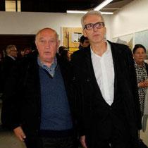Raymond Depardon, lors du vernissage de son exposition, au siège de la Région Rhône-Alples - Lyon - Novembre 2012 © Anik COUBLE
