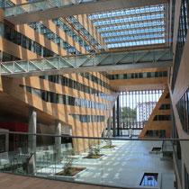 Au premier plan les passerelles, au dessus de l' L'Atrium, du siège la Région Rhône-Alpes © Anik COUBLE