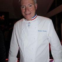 """Christian Tetedoie, lors de la soirée d'inauguration de son  Restaurant """"Les Salins"""" à Lyon Confluence © Anik COUBLE"""