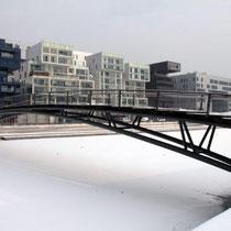 La Confluence sous  la neige et la glace / Photo: Anik Couble