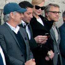 Steven Spielberg, David Lisnard (mairie de Cannes), Nicole Kidman et Christopher Waltz - Festival de Cannes 2013 © Anik COUBLE