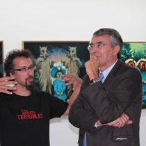 Jérome Catz, le Commissaire de l'exposition, Jérome Catz et Jean-Jack Queyranne, président de la Région Rhône-Alpes  - Lyon - Septembre 2011 © Anik COUBLE