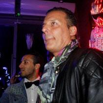 """Jean Roch lors de la soirée d'inauguration du  restaurant """"Les Salins"""",  à Lyon Confluence © Anik COUBLE"""