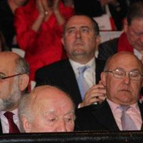 Michel PICOLLI, Robert HUE et Michel SAPIN  / Photo : Anik Couble