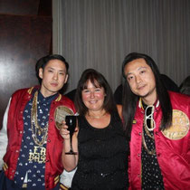 "J- Splif et Kev Nish du groupe ""Far East Movement""et Anik couble - Lyon - 25 avril 2012"