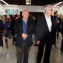 Raymond Depardon, lors du vernissage de son exposition, au siège de la Région Rhône-Alpes © Anik COUBLE