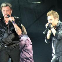 Johnny Hallyday et Greg Zlap  - Lyon - Juin 2012 © Anik COUBLE