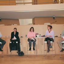 Jean Jouzel, Cynthia Fleury, Myriam Yllamola, Adélaïde Wagner et Jean-Michel Rivet - Lyon - 0ctobre 2011  © Anik COUBLE