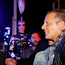 """Jean Roch et Ludovic, lors de la soirée d'inauguration du  restaurant """"Les Salins,  à Lyon Confluence © Anik COUBLE"""
