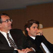 Jean-Jack QUEYRANNE, Président de la Région Rhône-Alpes et Michael PETERS, Président du Directoire d'Euronews - Photo © Anik COUBLE