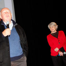 Raymond Depardon et Claudine Nougaret - Institut Lumière - Lyon - 2013 © Anik COUBLE