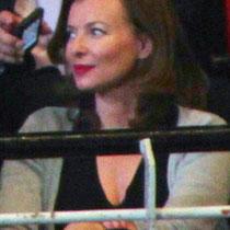 Valérie Trierweiler, lors du meeting de Lyon / Photo : Anik Couble