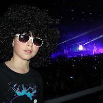 Alan BADAOUI - COUBLE super fan de LMAFAO, assiste au concert  / Photo : Anik Couble