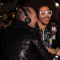 Redfoo de LAMFAO  et CAUET  - NRJ Music Awwards 2012 / Photo : Anik COUBLE