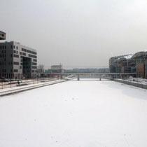 La Confluence sous  la neige et la glace Photo: Anik Couble