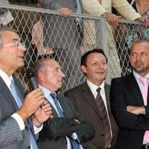 Jean-Jack Queyranne, Gérard Collomb, Thierry Braillard, Jean-François Debat  / Photo : Anik Couble